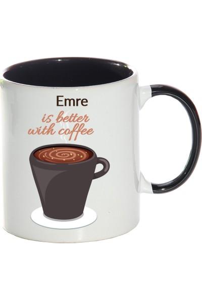 Kişiye Özel Coffee is Better Sihirli Kupa Bardak - tk6146