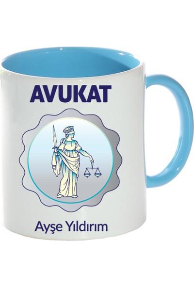 Kişiye Özel Avukat Tasarımlı Mavi Kupa Bardak - tk0208