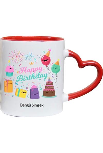 Kişiye Özel Happy Birthday Tasarımlı Kupa Bardak - tk3428