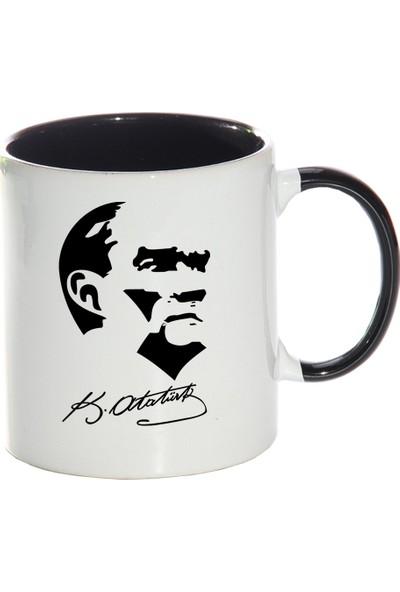 Kişiye Özel Atatürk Tasarımlı Sihirli Kupa Bardak - tk0208