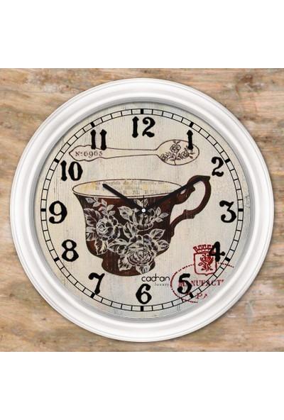 Cadran Luxury Dekoratif Camlı Mutfak Duvar Saati CDX081
