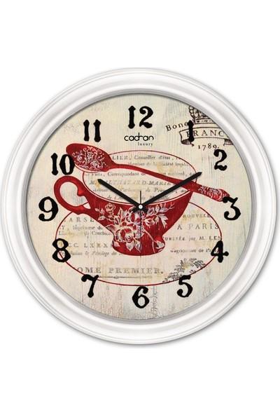 Cadran Luxury Dekoratif Camlı Mutfak Duvar Saati CDX091
