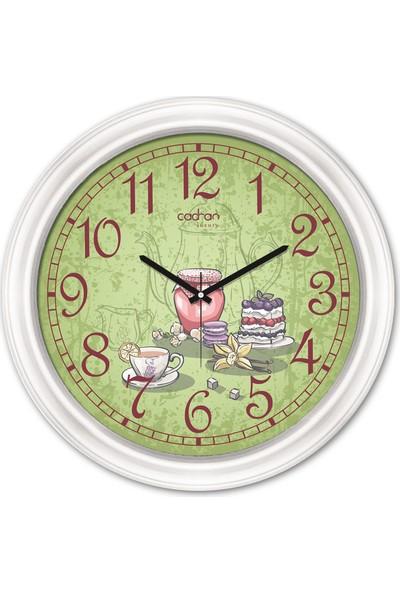 Cadran Luxury Dekoratif Camlı Mutfak Duvar Saati CDX142