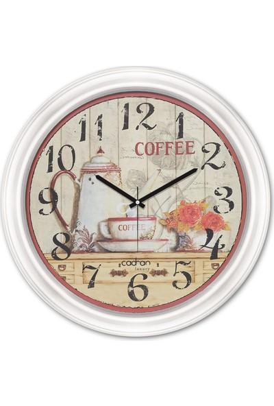 Cadran Luxury Dekoratif Camlı Mutfak Duvar Saati CDX155