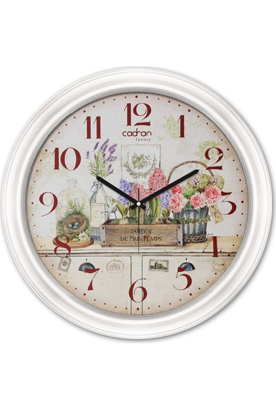 Cadran Luxury Dekoratif Camlı Duvar Saati CDX159