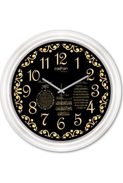 Cadran Luxury Dekoratif Camlı Dini Temalı Duvar Saati CDX221