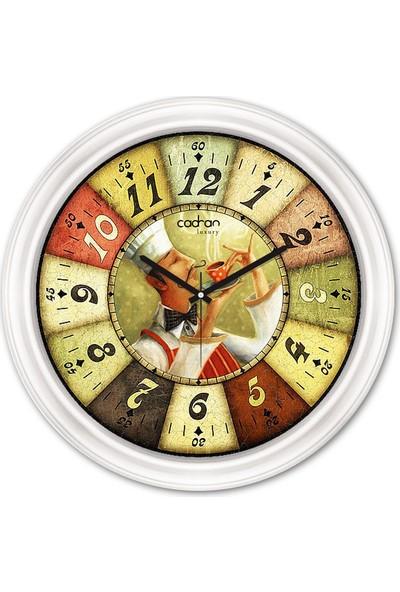 Cadran Luxury Dekoratif Camlı Mutfak Duvar Saati CDX261