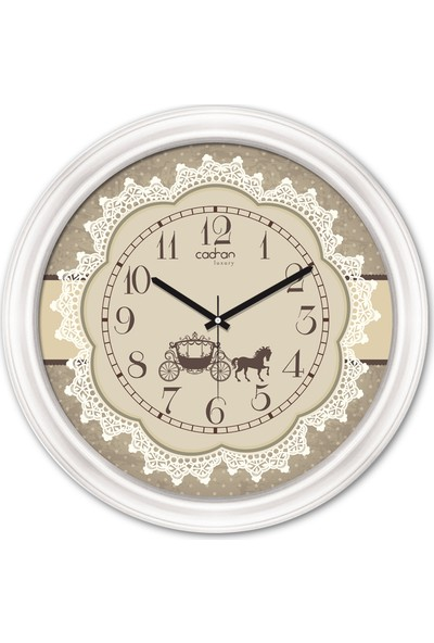 Cadran Luxury Dekoratif Camlı Duvar Saati CDX281