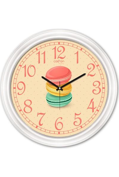 Cadran Luxury Dekoratif Camlı Mutfak Duvar Saati CDX299