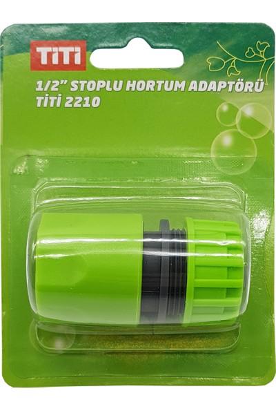 Titi 2210 Stoplu Hortum Adaptörü 1/2''