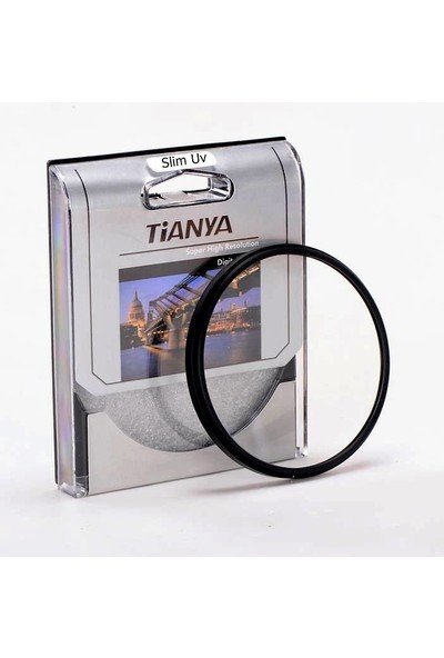 Tianya Canon 50mm F1.8 II Lens için 52mm Slim MC 8 Katmanlı Koruyucu Uv Filtre