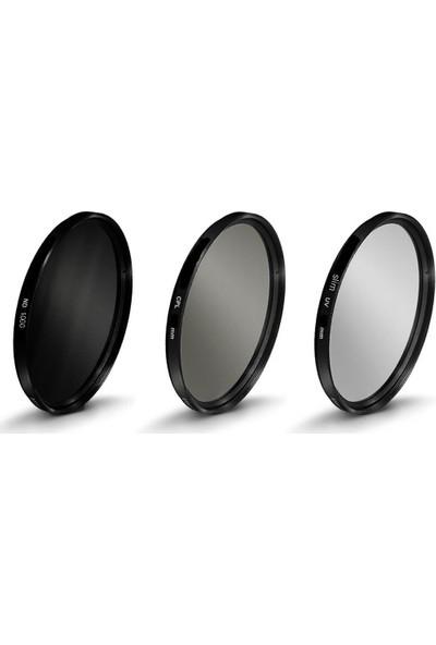 Tianya 62mm Lens ler için Slim Mc Uv + Cpl Circular Polarize + Nd1000 Uzun Pozlama 10 Stop Nd Filtre