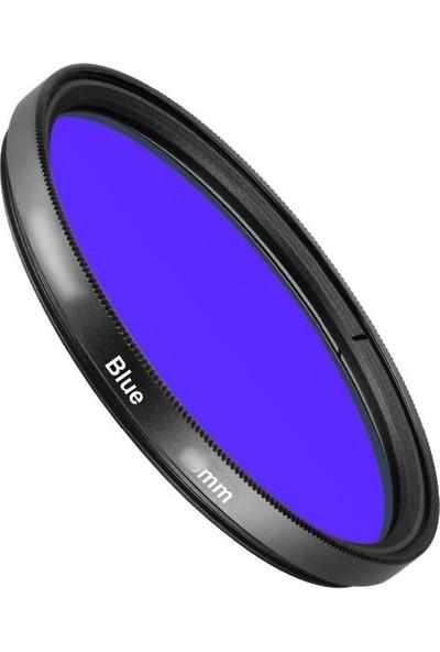 AZT 72mm Full Color Blue Mavi Efekt Filtre