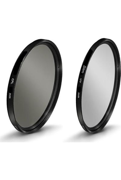 Tianya Nikon 18-140mm Lens için 67mm Slim Mc Uv Filtre + Cpl Circular Polarize Filtre