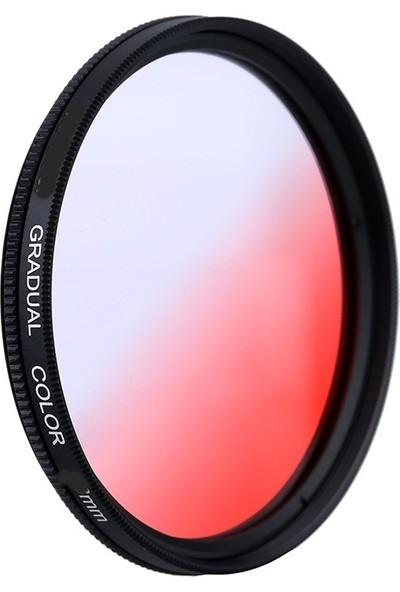 AZT 77mm Gradual Degrade Kademeli Kırmızı Red Efekt Filtre