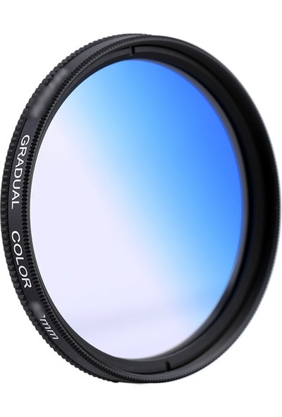 AZT 58mm Gradual Degrade Kademeli Mavi Blue Efekt Filtre