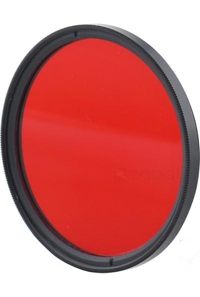 AZT 77mm Full Color Red Kırmızı Efekt Filtre
