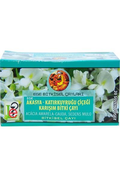 Ege Lokman Akasya Katırkuyruğu Çiçeği Karışım Bitki Çayı 20 Süzen Poşet