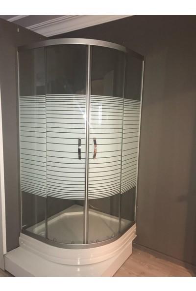 Batheus Ekotina 90 x 90 Oval Duşakabin + Duş Teknesi, 4 mm Temperli Cam