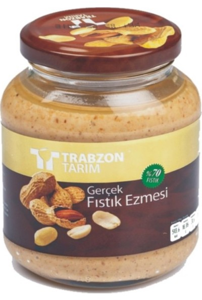 Trabzon Tarım Gerçek Fıstık Ezmesi %70 Fıstık 320 gr