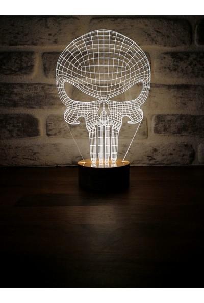 By Lamp 3 Boyutlu Punisher Lamba