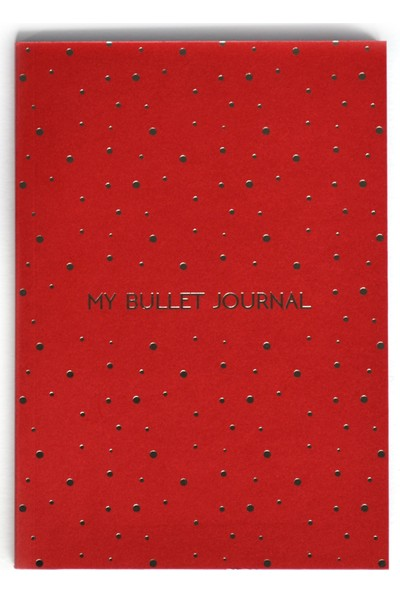 Pulp Bullet Journal Red Noktalı Defter (A5)