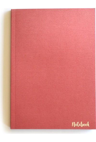Pulp Sparkle Red Çizgisiz Defter (A5)