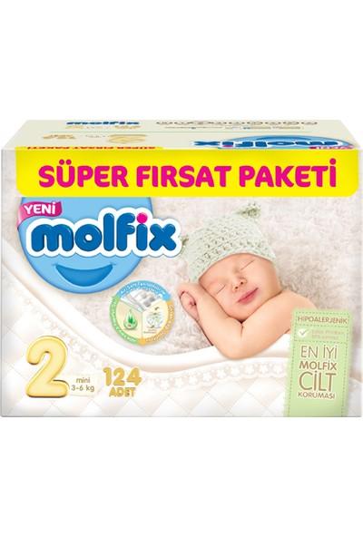 Molfix Bebek Bezi Süper Fırsat Paketi 2 Beden 124 Adet