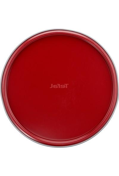 Tefal J1641314 Delibake Kelepçeli 26cm Yuvarlak Kek Kalıbı Kırmızı - 2100104747