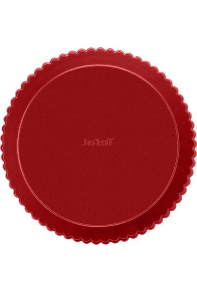 Tefal J1641514 DeliBake 28 cm Tırtıklı Tart Kalıbı Kırmızı - 2100104749