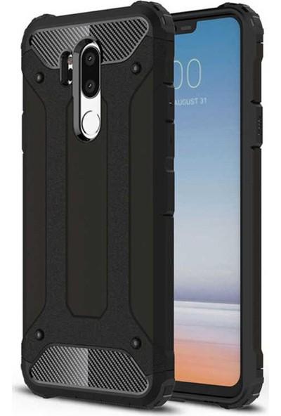 CoverZone LG G7 ThinQ Kılıf Shockproof Zırh Koruma Siyah