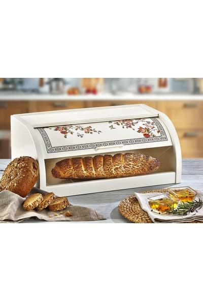 Özmet Çiçek Desenli Ekmek Kutusu