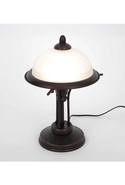 ALUNA Aydınlatma - Eskitme siyah masa lambası