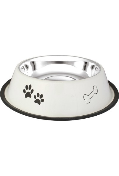 Oripet Pati Kemik Desenli Çelik Kedi Ve Köpek Mama Kabı 8 Oz