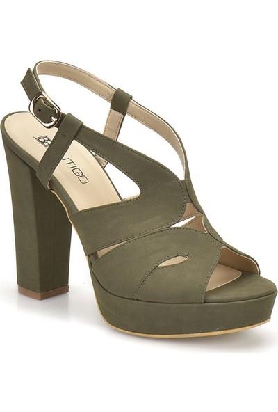 Butigo 18S-141 Haki Kadın Ayakkabı
