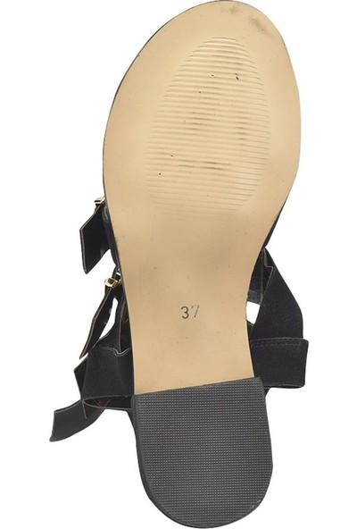 Butigo Ds18073 Siyah Kadın Basic Dress
