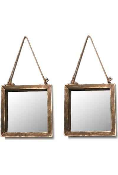 222 Concept Masif El Yapımı CPT2308-35 2li Duvar Aynası