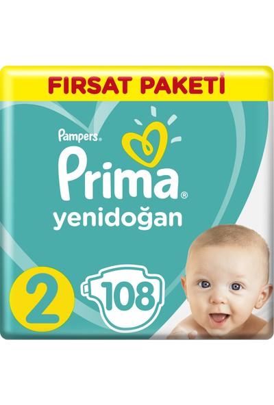 Prima Bebek Bezi Yeni Bebek 2 Beden Mini Fırsat Paketi 108 Adet