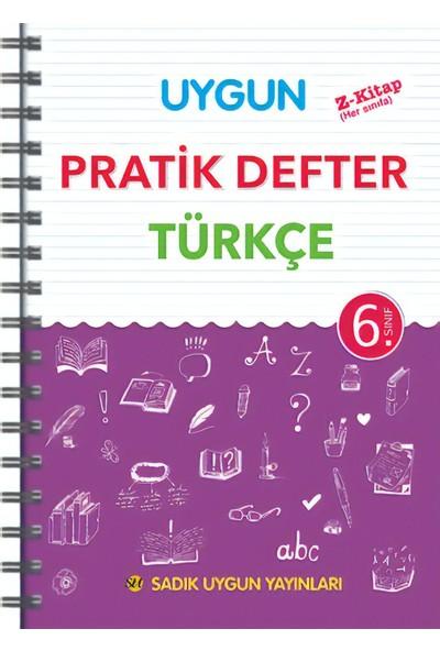 Sadık Uygun Yayınları Pratik Defter Türkçe 6.Sınıf