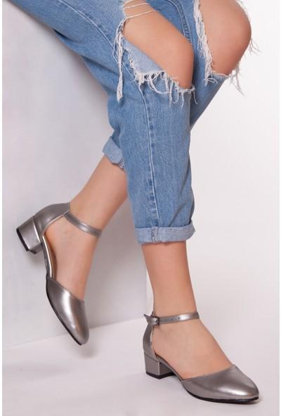 Tarçın Trc01-0142 Topuklu Ayakkabı Platin