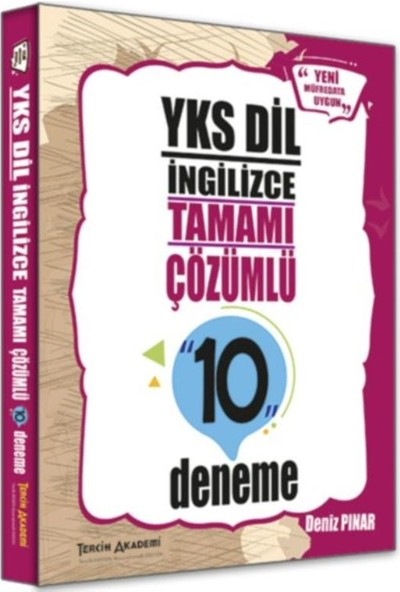 Tercih Akademi Yks Dil İngilizce Tamamı Çözümlü 10 Deneme - Deniz Pınar