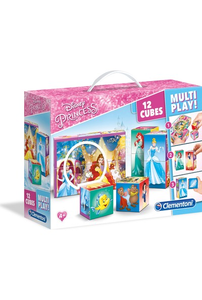 Clementoni 12 Parça Multiplay Küp Puzzle Princess