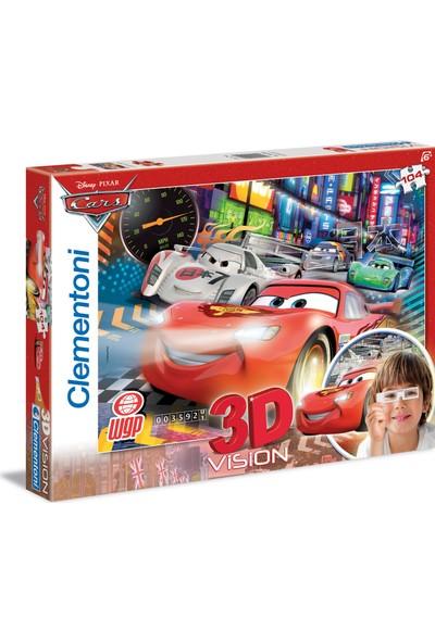 Clementoni 104 Parça Puzzle 3 Boyutlu (3D) Cars