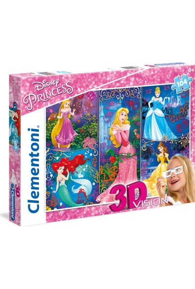 Clementoni 104 Parça Puzzle 3 Boyutlu (3D) Princess