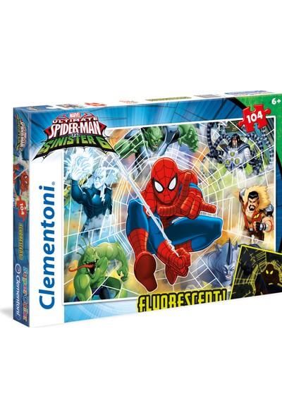 Clementoni 104 Parça Puzzle Neon Spiderman