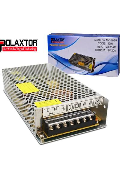 Polaxtor Metal Kasa Adaptör 12 Volt 20 Amper Trafo