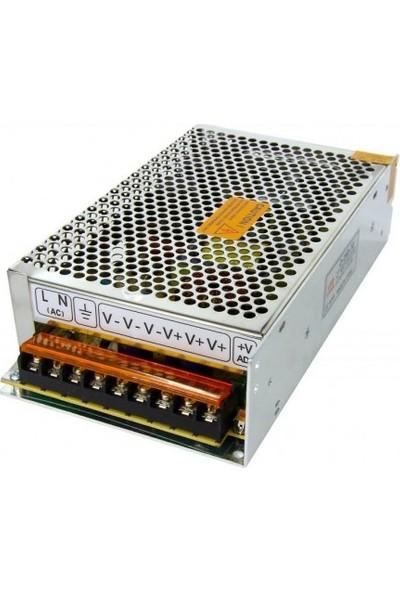 Polaxtor Metal Kasa 12V 10A Üniversal Ac Giriş Trafo Güvenlik Adaptörü