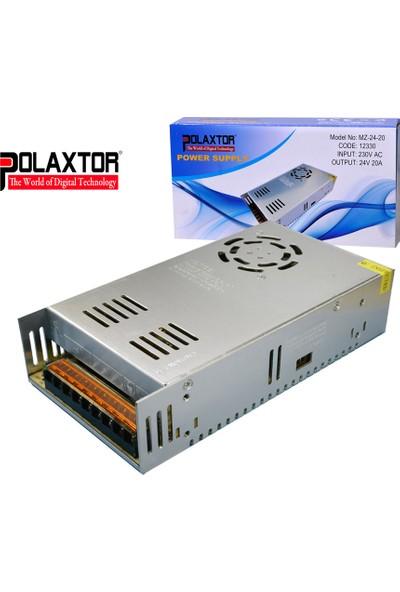 Polaxtor Adaptör 24V 20A Metal Kasa Korumalı Fanlı Traro
