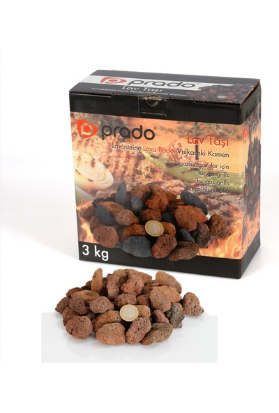 Prado Lav Taşı Mangal için Kırmızı - Kahverengi