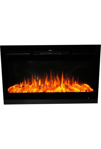Ateşin Efendisi Elektrikli Şömine Boge Tek Renkli 92'lik Plazma